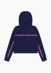 Nike Sportswear - NIKE AIR CROP HOODIE - Hoodie - blue void/fire pink - 1