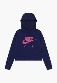 Nike Sportswear - NIKE AIR CROP HOODIE - Hoodie - blue void/fire pink - 0