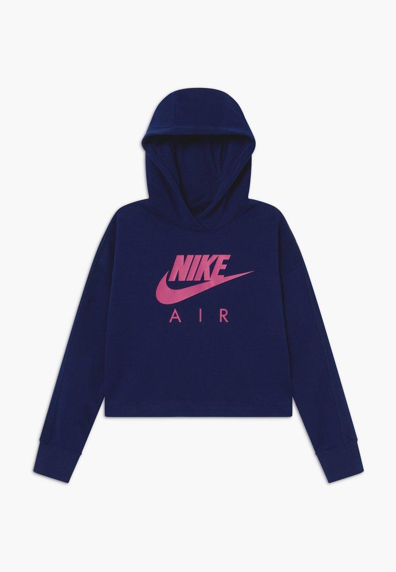 Nike Sportswear - NIKE AIR CROP HOODIE - Hoodie - blue void/fire pink