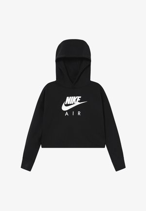 NIKE AIR CROP HOODIE - Huppari - black/white