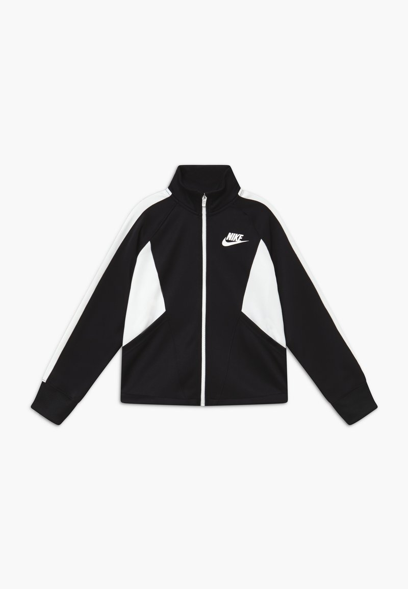 Nike Sportswear - G NSW HERITAGE FZ - Training jacket - black/white