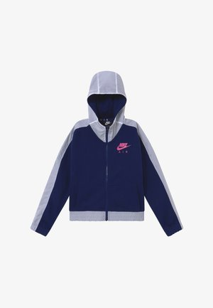 Zip-up hoodie - blue void/white/fire pink