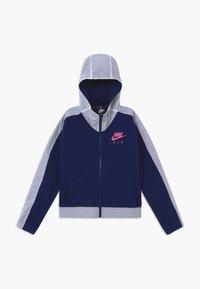 Nike Sportswear - Felpa aperta - blue void/white/fire pink - 0