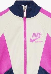 Nike Sportswear - HERITAGE  - Training jacket - offwhite/dark blue/pink - 2