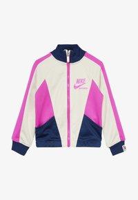 Nike Sportswear - HERITAGE  - Training jacket - offwhite/dark blue/pink - 3