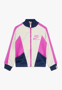 Nike Sportswear - HERITAGE  - Training jacket - offwhite/dark blue/pink - 0
