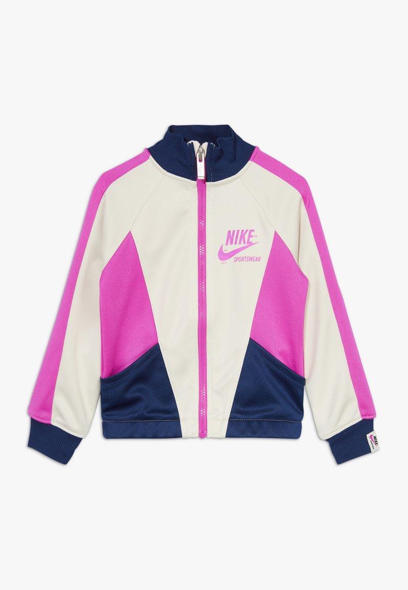 Nike Sportswear - HERITAGE  - Training jacket - offwhite/dark blue/pink