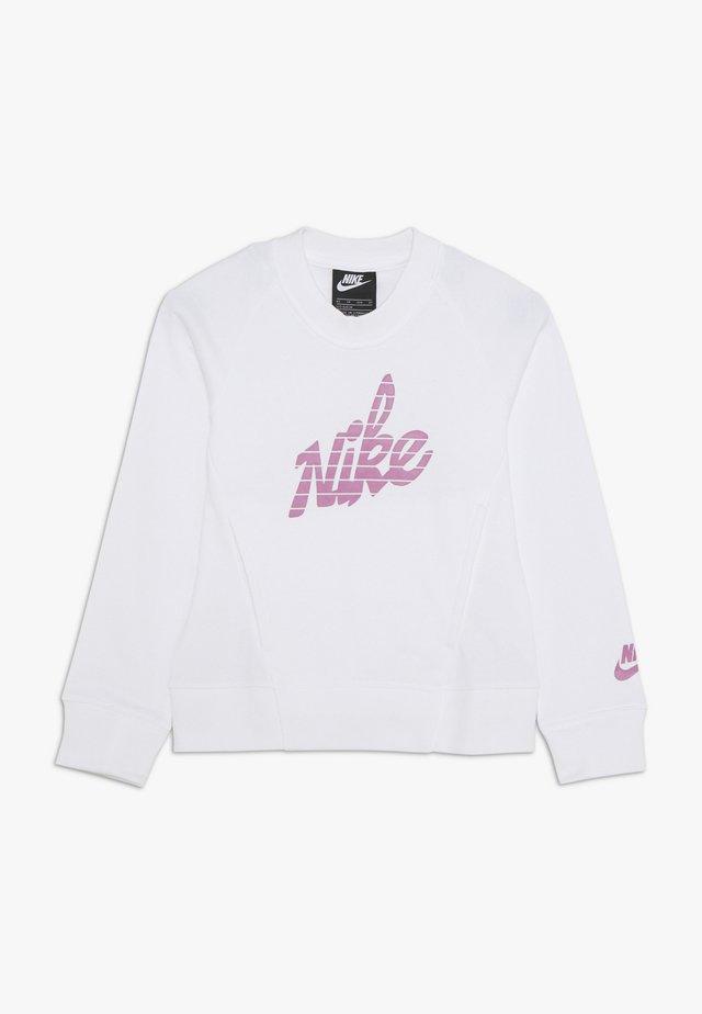 CREW - Sweater - white/magic flamingo