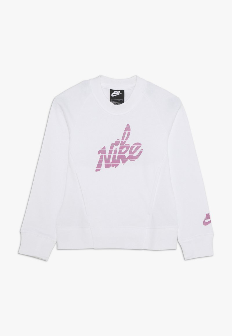 Nike Sportswear - CREW - Sweatshirt - white/magic flamingo
