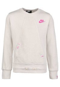 Nike Sportswear - HERITAGE SWEATSHIRT KINDER - Sweater - light orewood brown / fire pink - 0