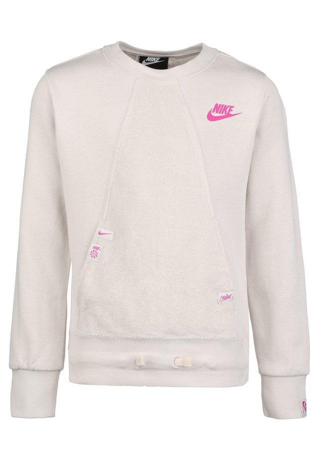 HERITAGE SWEATSHIRT KINDER - Sweater - light orewood brown / fire pink