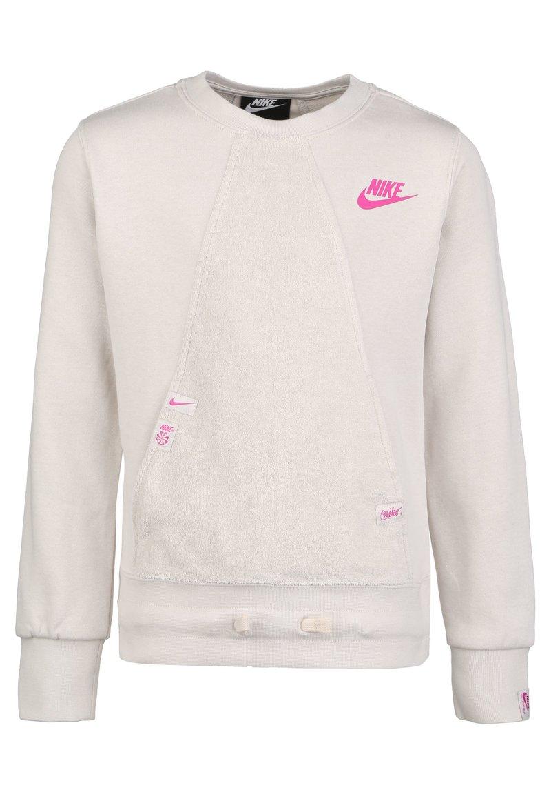 Nike Sportswear - HERITAGE SWEATSHIRT KINDER - Sweater - light orewood brown / fire pink