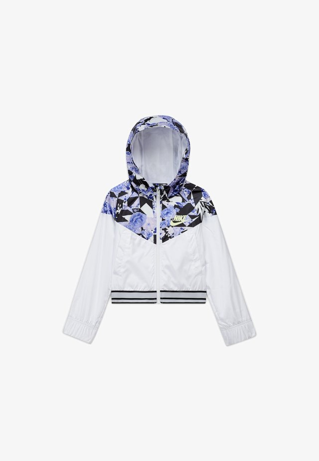 WINDRUNNER - Training jacket - white/black/barely volt