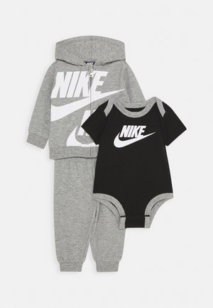 SPLIT FUTURA PANT BABY SET - Body - dark grey heather