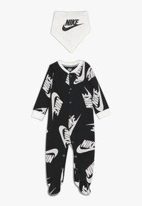 Nike Sportswear - FOOTED COVERALL BIB BABY SET - Potkupuku - black - 0
