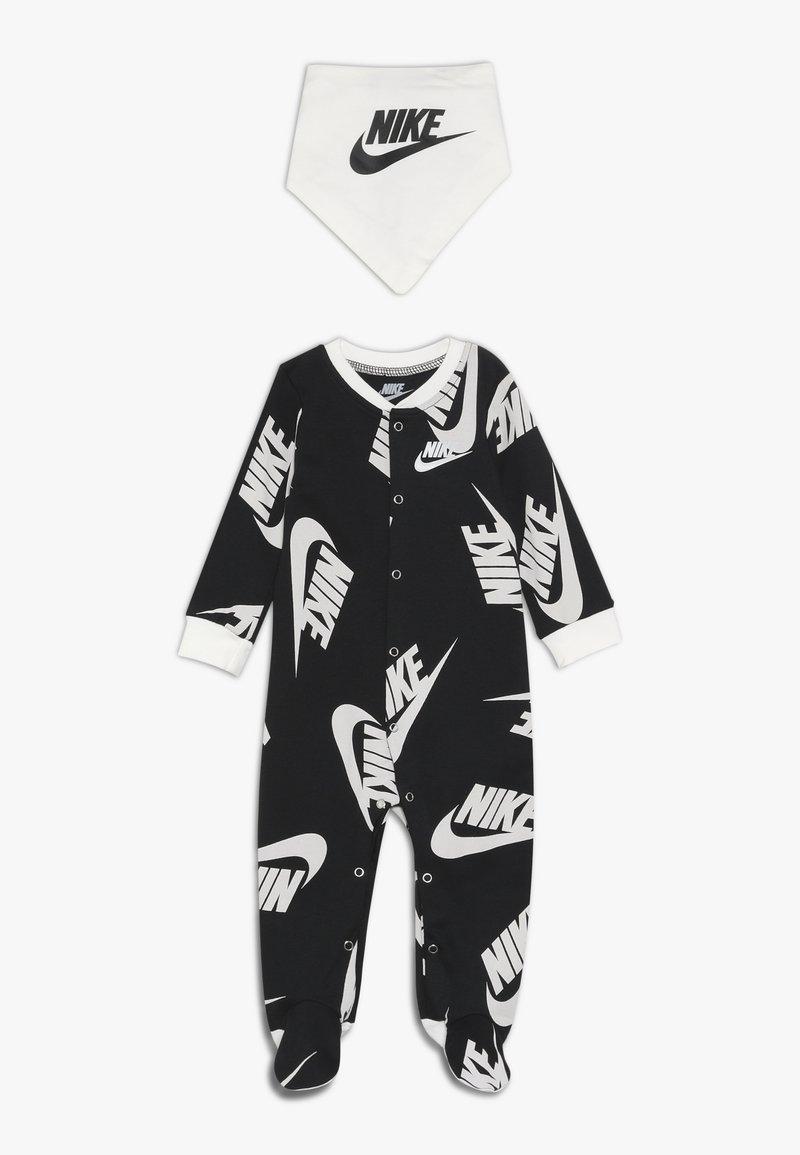 Nike Sportswear - FOOTED COVERALL BIB BABY SET - Potkupuku - black