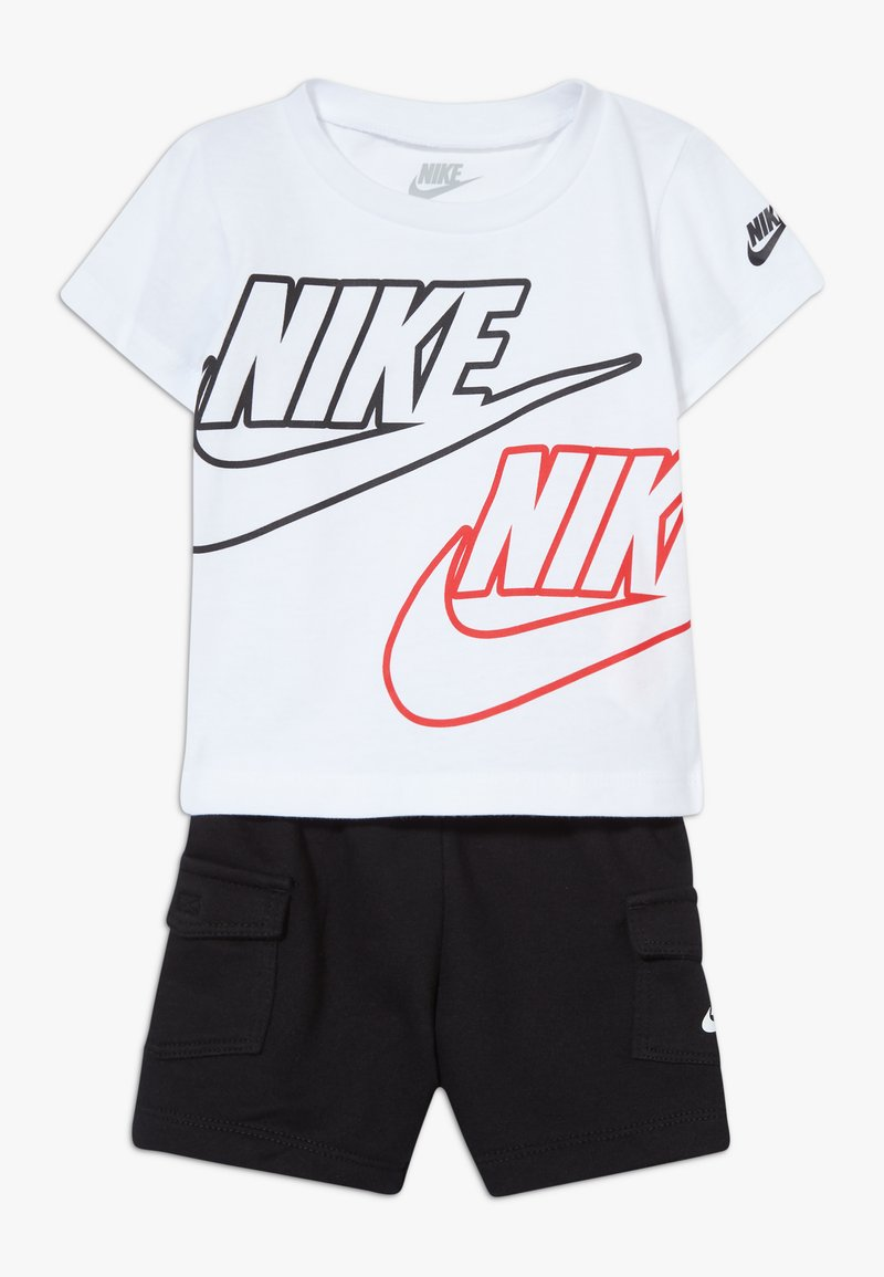 Nike Sportswear - CARGO BABY SET - Shorts - black/white/university red