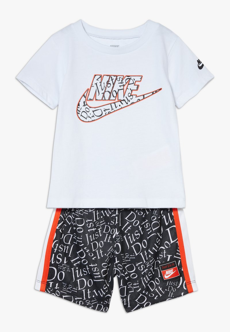 Nike Sportswear - TEE BABY SET - Trousers - white/black