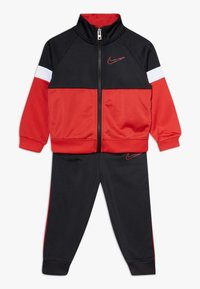 Nike Sportswear - COLOR BLOCK TRICOT BABY SET - Collegetakki - black - 0