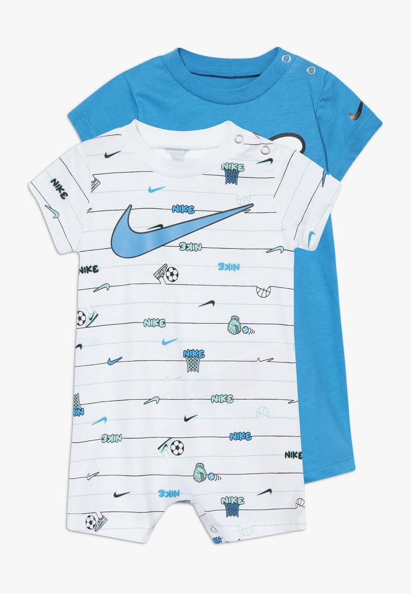 Nike Sportswear - STRIPE ROMPER BABY 2 PACK - Overal - white
