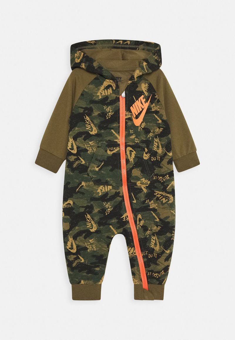 Nike Sportswear - CRAYON CAMO COVERALL - Jumpsuit - cargo khaki