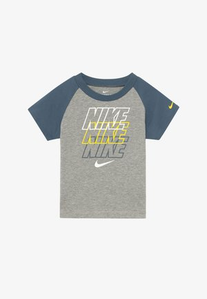 REBRAND REPEAT TEE BABY - Print T-shirt - grey heather