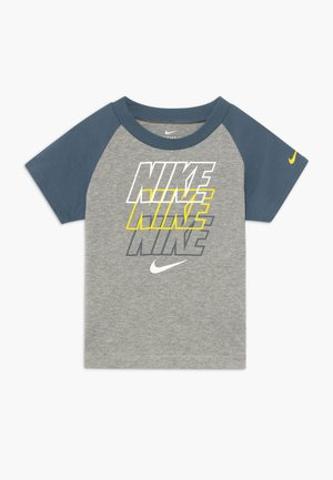 REBRAND REPEAT TEE BABY - T-shirt imprimé - grey heather