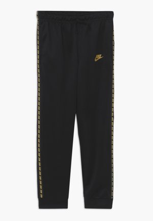 REPEAT PANT POLY - Pantaloni sportivi - black/metallic gold