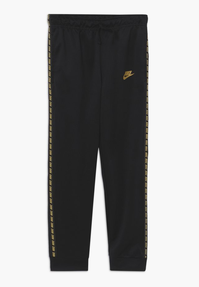 REPEAT PANT POLY - Träningsbyxor - black/metallic gold
