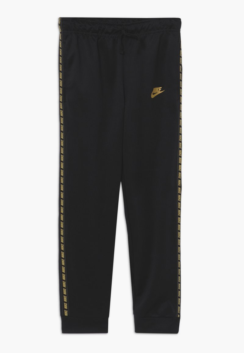 Nike Sportswear - REPEAT PANT POLY - Teplákové kalhoty - black/metallic gold
