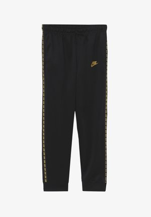 REPEAT PANT POLY - Pantalones deportivos - black/metallic gold