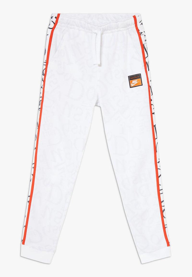 Nike Sportswear - Teplákové kalhoty - white/team orange