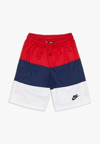 Nike Sportswear - BLOCK - Short - university red/midnight navy/white/black - 0