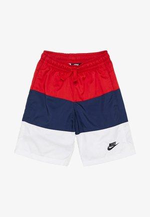 BLOCK - Shorts - university red/midnight navy/white/black