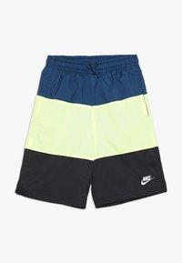 Nike Sportswear - BLOCK - Short - blue force/barely volt/black/white - 0