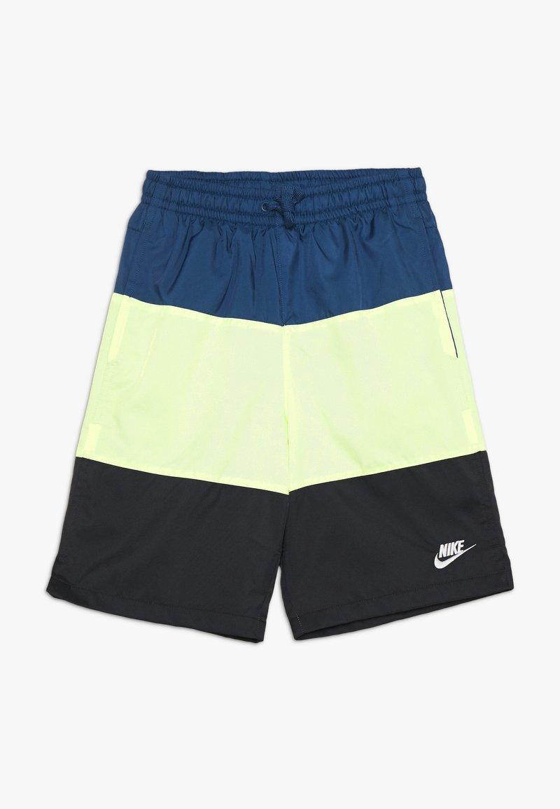 Nike Sportswear - BLOCK - Short - blue force/barely volt/black/white