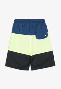 Nike Sportswear - BLOCK - Short - blue force/barely volt/black/white - 1