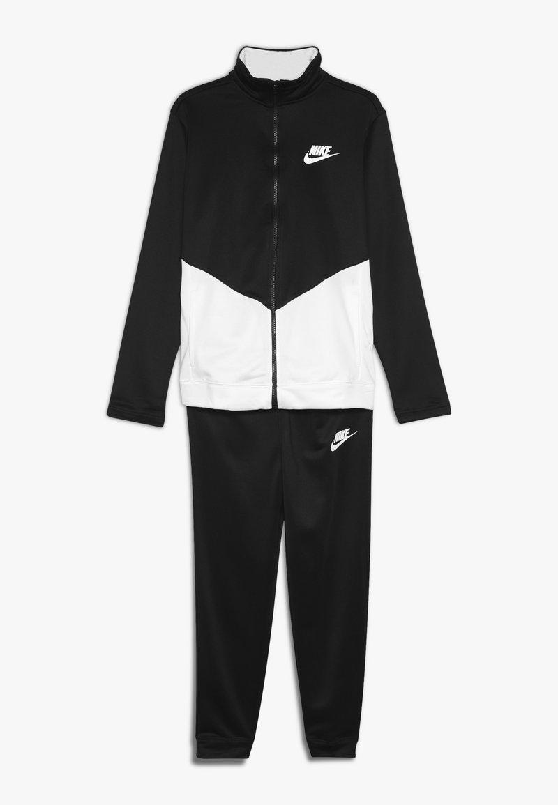 Nike Sportswear - B NSW CORE TRK STE PLY FUTURA - Veste de survêtement - black/white