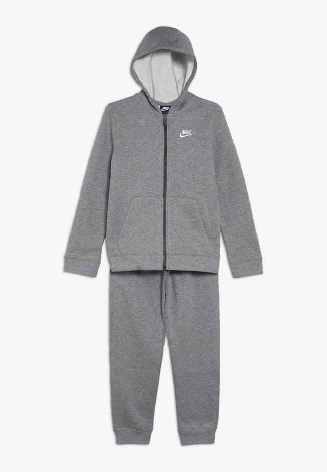 SUIT CORE - Zip-up hoodie - carbon heather/dark grey/white