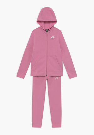SUIT CORE - Zip-up hoodie - magic flamingo/white