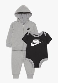 Nike Sportswear - SOLID FUTURA PANT SET BABY - Zip-up hoodie - dark grey heather - 0