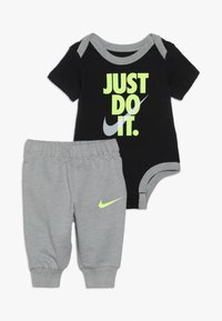 Nike Sportswear - JUST DO IT BODYSUIT PANT BABY SET - Body - dark grey heather - 0