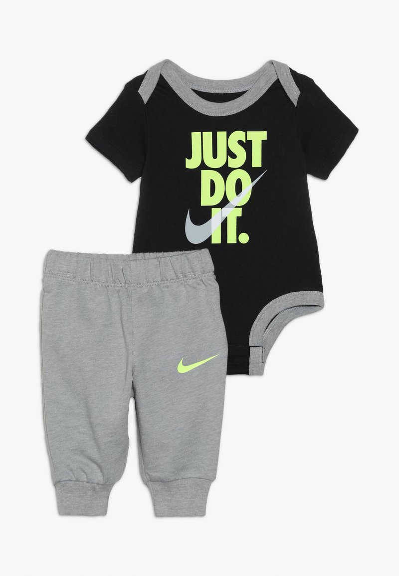 Nike Sportswear - JUST DO IT BODYSUIT PANT BABY SET - Body - dark grey heather