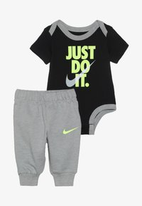 Nike Sportswear - JUST DO IT BODYSUIT PANT BABY SET - Body - dark grey heather - 5