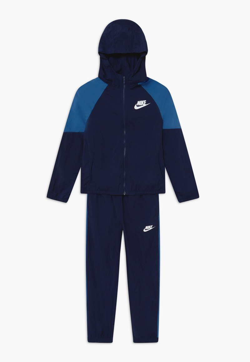 Nike Sportswear - WOVEN SET - Survêtement - midnight navy/mountain blue/white
