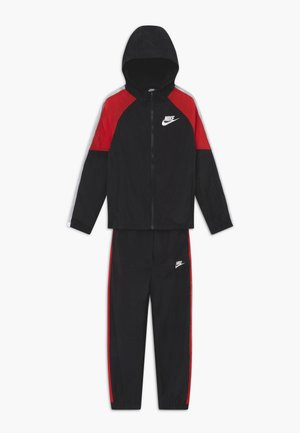 WOVEN SET - Tracksuit - black/university red/white