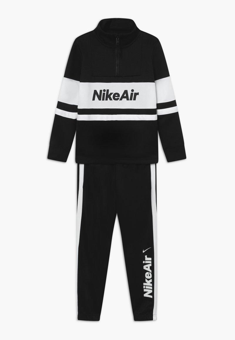 Nike Sportswear - TRACKSUIT SET - veste en sweat zippée - black/white