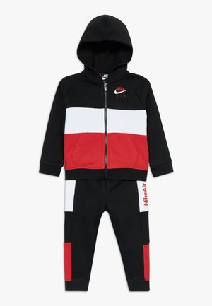AIR SET - Tracksuit - black/university red