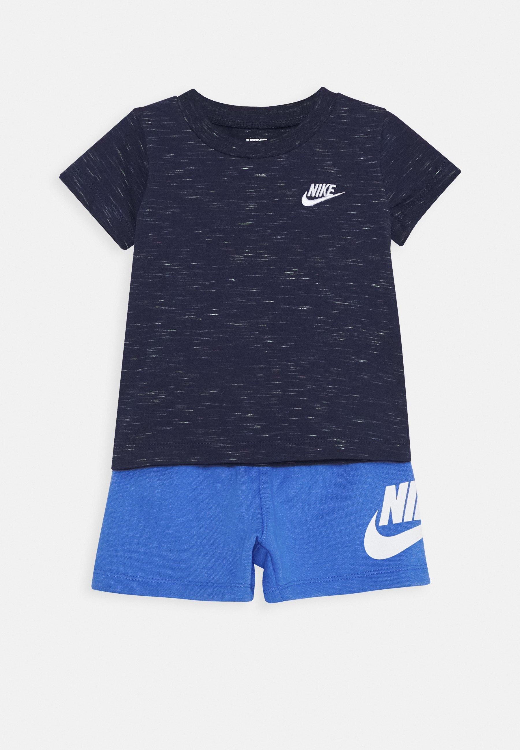 SHORT SET T shirt imprimé pacific blue