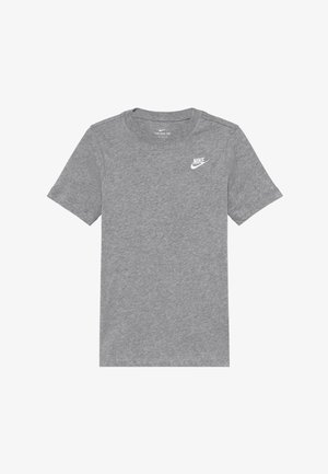 TEE FUTURA - Basic T-shirt - grey heather/white